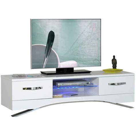 meuble tv design blanc laqu 201 avec led