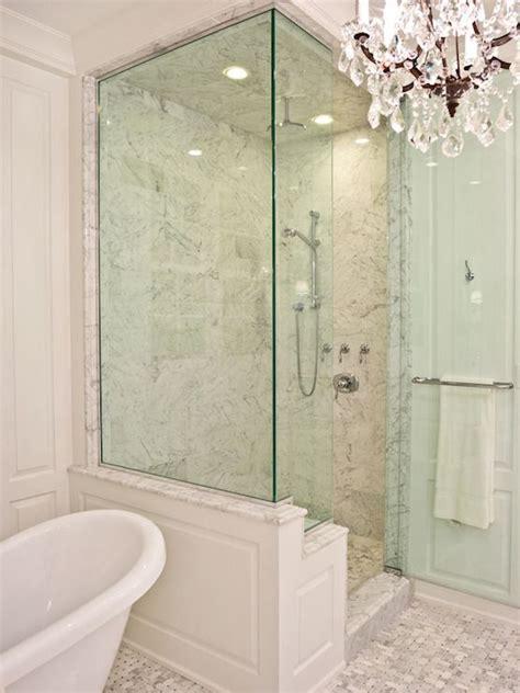 pld custom homes bathrooms walk  shower glass