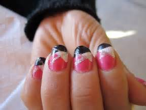 Pics photos cute nail designs easy nails design pink triangle silver