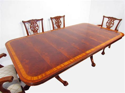 a chippendale antique style flamed mahogany dining table