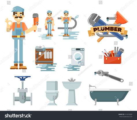 plumbing repair service plumbing repair service isolated on white stock vector