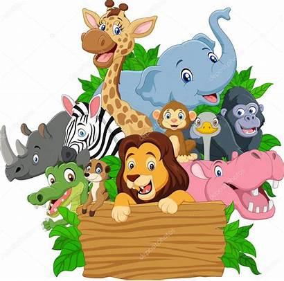 Animales Cartoon Wild Animados Dibujos Animal Salvajes