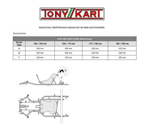 siege kart position du siege tony kart karting forum sport auto