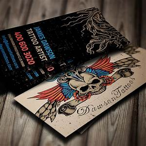 Tattoo artist business card on behance for Tattoo business cards designs
