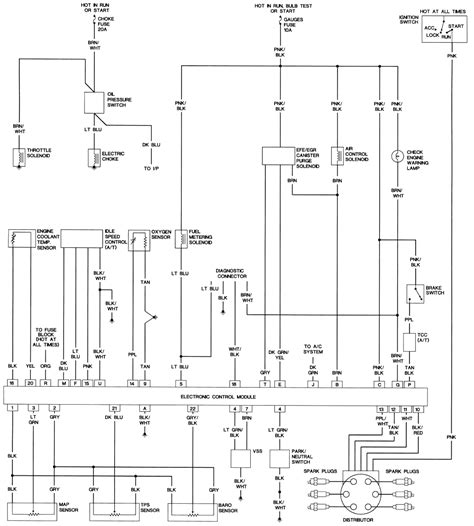 Wiring Diagram For 1988 Firebird by 1989 Jeep Wrangler 4wd 2 5l Tbi 4cyl Repair Guides