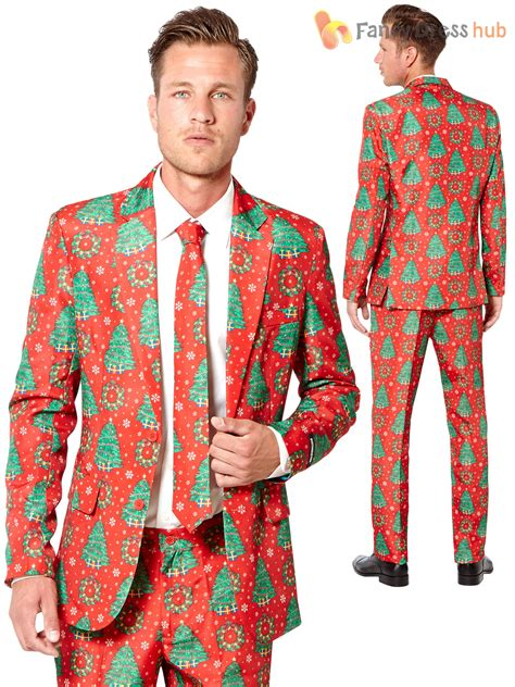 mens christmas tree suitmeister suit xmas novelty festive