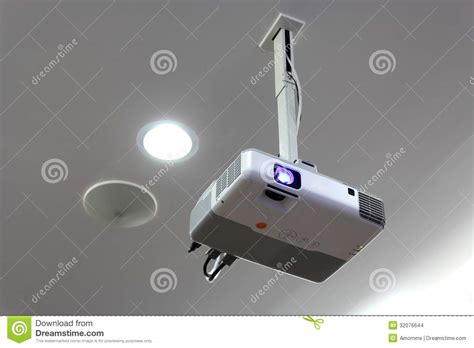 ceiling mounted projectors for conference rooms projector stock images image 32076644