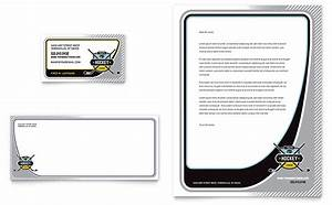 Junior Hockey Camp Business Card  U0026 Letterhead Template