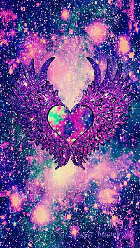 dark fantasy angel heart wings galaxy iphoneandroid