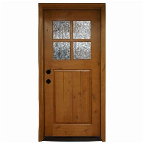 alder wood doors steves sons 36 in x 80 in cottage 4 lite stained