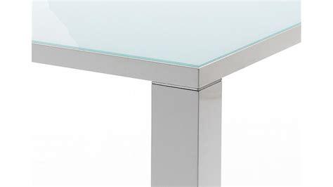 Esstisch Tizio Weiß Hochglanz Mit Glasplatte 120 X 80 Cm