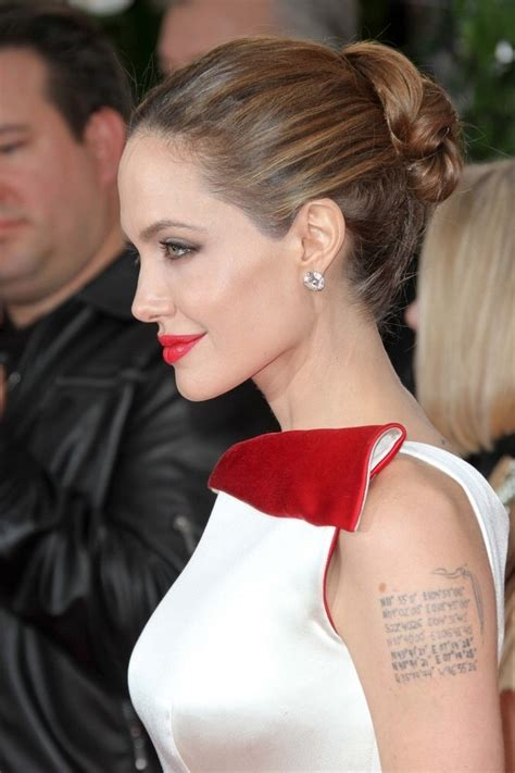 angelina jolies hair styled   simple  elegant