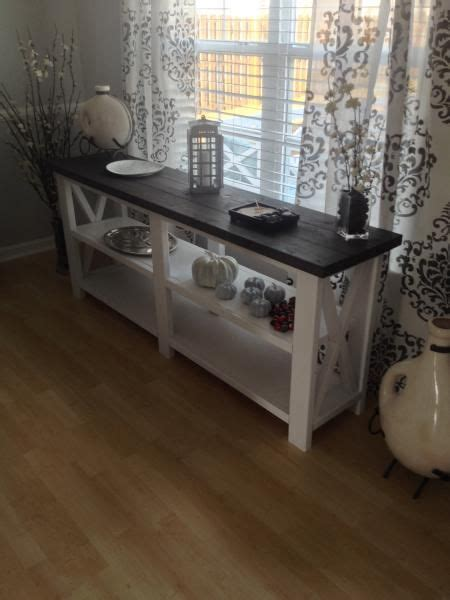 rustic  console table    home projects