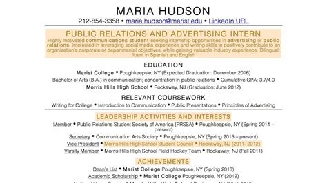 the resume for someone with no experience