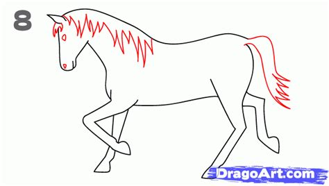 draw  horse step  step animals  kids
