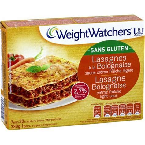 plat cuisiné lasagnes bolognaise s gluten weight watchers