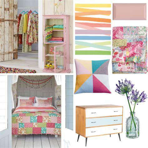 vintage pastel bedroom pastels
