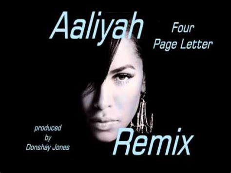 aaliyah 4 page letter the offical aaliyah remix 4 page letter 2012 new 20354