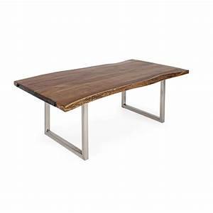 Table En Acier : timboct t table moderne fixe mesurant 220x100 cm avec structure en acier inoxydable et ~ Teatrodelosmanantiales.com Idées de Décoration