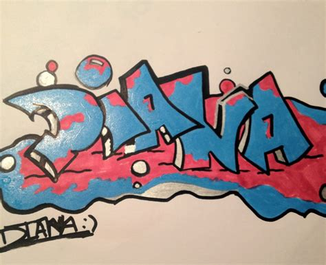 Grafiti Dian : Diana In Graffiti By Rosales-venancio On Deviantart