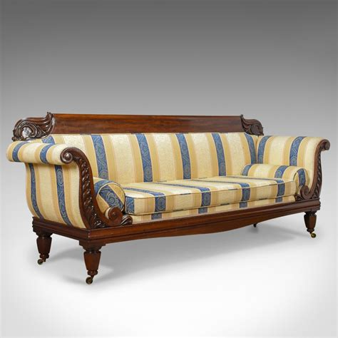 daybed settee large antique scroll end settee regency mahogany sofa