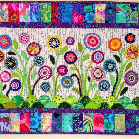 Felt Applique Patterns by Flower Garden Wool Felt Applique By Wendy S Quilts And