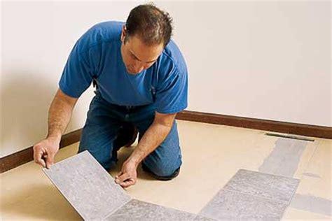 best way to fix vinyl floor tiles