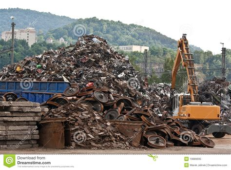 scrap metal yard royalty free stock photo image 19889695