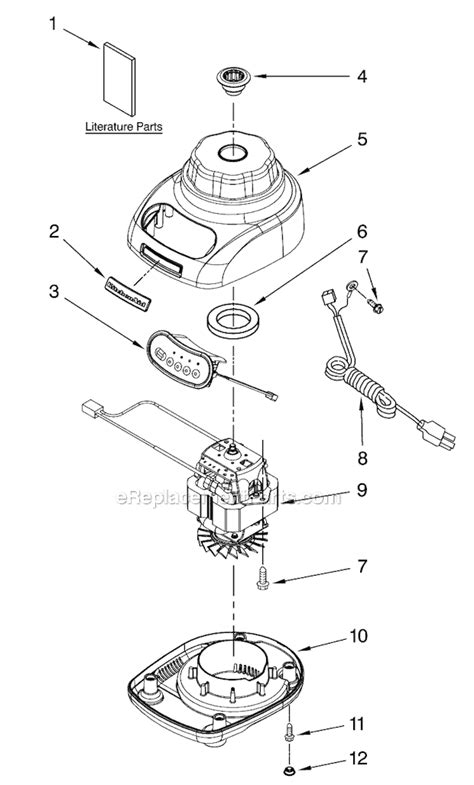 kitchen aid replacement parts kitchenaid ksb540 parts list and diagram series 0