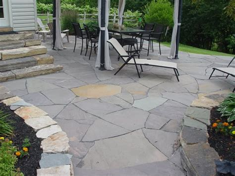 how to install flagstone patio how to install flagstone landscaping network