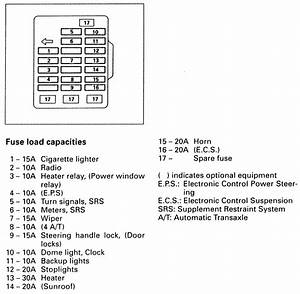 0a9 2002 Mitsubishi Diamante Fuse Box Diagram