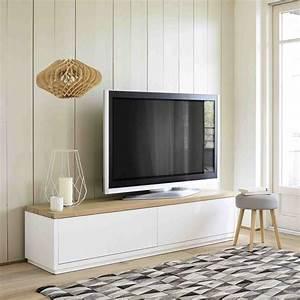 Meuble Tv 2 Portes Blanc L180