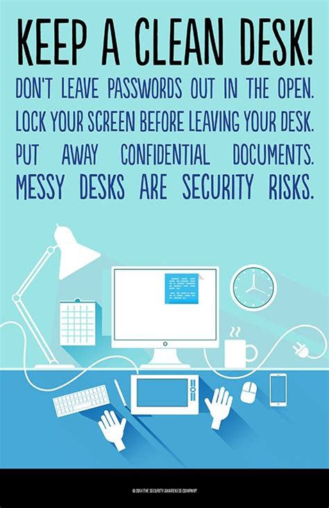sle clean desk policy keep a clean desk physical security