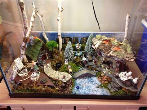 aquarium fairy garden  miniature fairy gardens