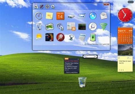 gadgets bureau windows 7 windows sidebar windows 7 sidebar and gadgets for xp