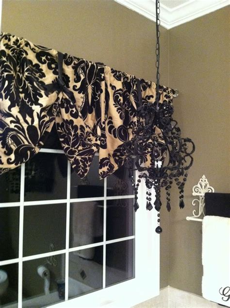 window valance   pillow shams diy black  tan
