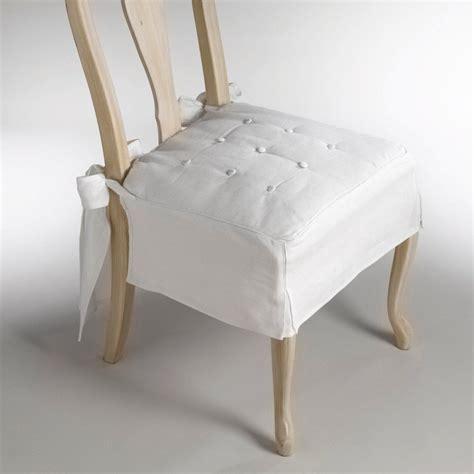 cuscini per sedie eleganti coprisedie in tessuto bianco per avere pi 249 luminosit 224 in casa