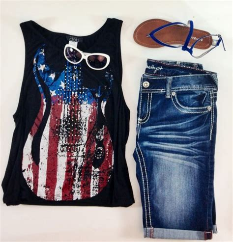 fun interesting american flag print clothing styles