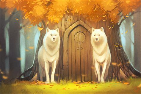 white wolves by gaudibuendia on deviantart