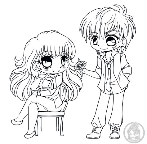 fanart  chibi colouring pages yampuffs stuff