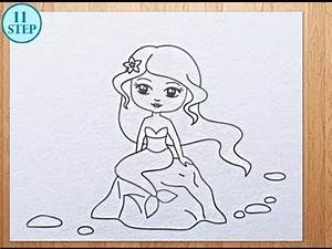 How to draw a mermaid - YouTube