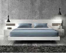 Platform Bed Decoration Lacquered Graceful Wood Luxury Platform Bed With Long Panels Oklahoma