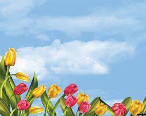 Free Tulips Powerpoint Template