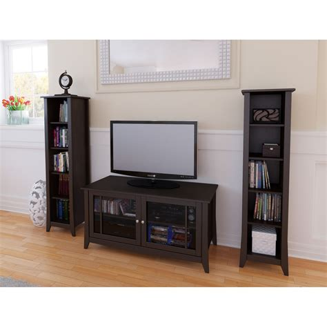 Tv Bookcases by Elegance 49 In Tv Console With Bookcase Tv Stands At