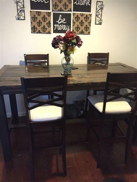 diy counter height farmhouse dining table diy farmhouse