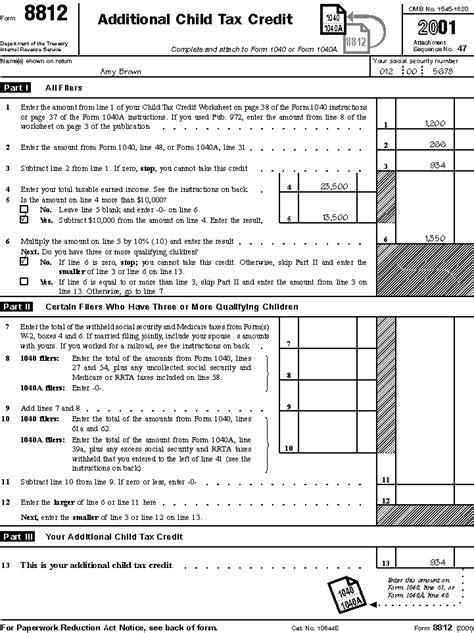free additional child tax credit worksheet pdf source