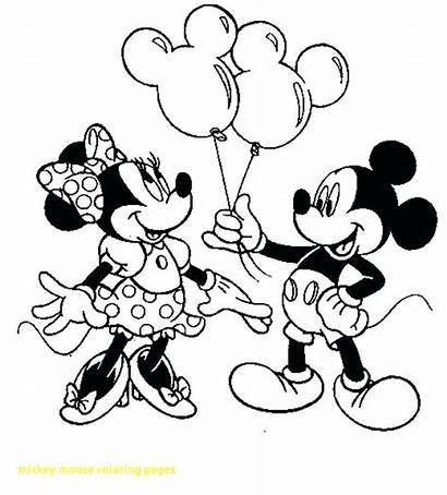 Coloring Mickey Minnie Mouse Pages Kissing Printable