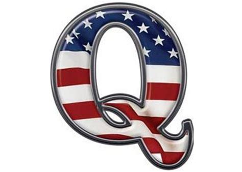 Reflective Letter Q with Flag :: Patriotic Reflective ...