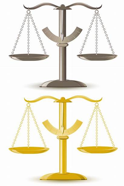 Justice Scale Vector Illustration Background Scales Unbalanced