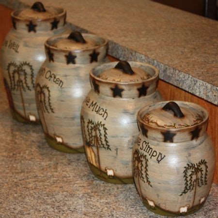 78 best images about primitive kitchen canisters on